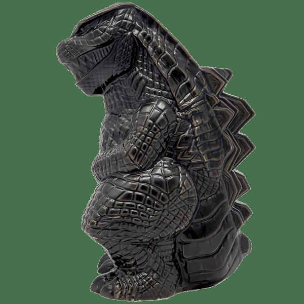 Side - Godzilla vs. Kong Godzilla Tiki Mug - Mondo - Matte Black Variant