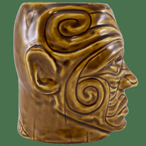 Side - Tumuaki Tiki Mug - Tiki Farm - Brown Edition