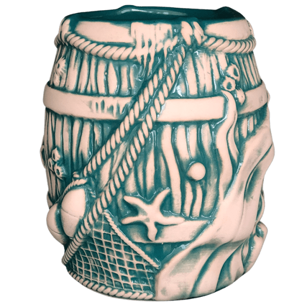 Back - Debris Barrel Mug - Dead Man's Isle - Teal Edition