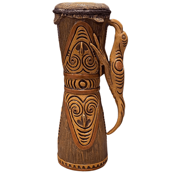 Back - Kundu (PNG Drum) - Ceramics by Carol - Bird Edition