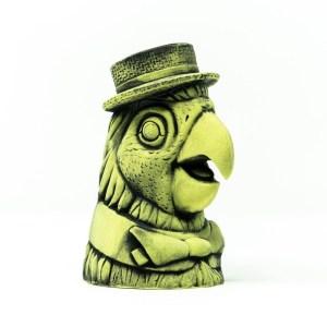 Barker Bird Ceramic Mug in Lime Green Glaze