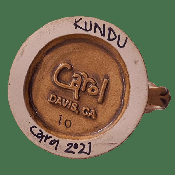 Bottom - Kundu (PNG Drum) - Ceramics by Carol - Bird Edition