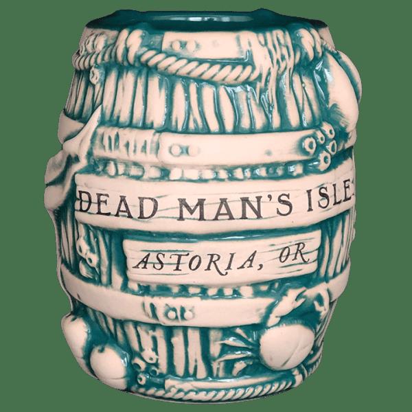 Front - Debris Barrel Mug - Dead Man's Isle - Teal Edition