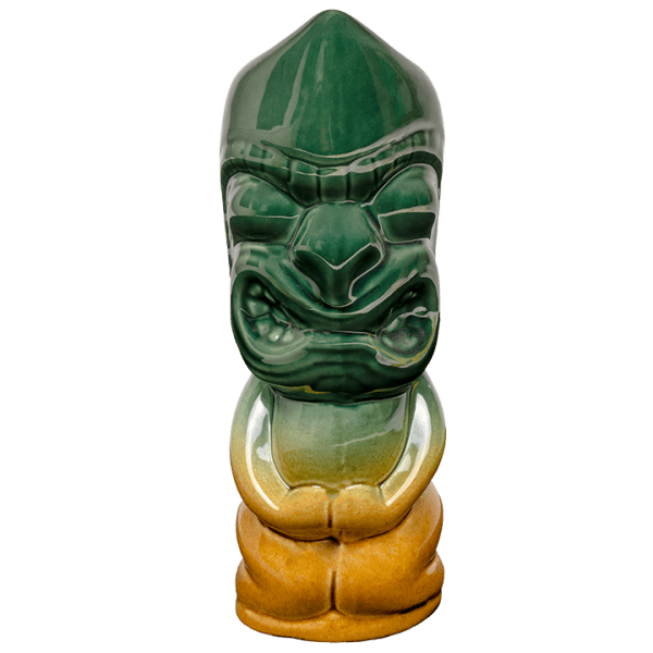 Front - Island Chief Tiki - Tiki Bauer - Emerald Green and Warehouse Brown Edition