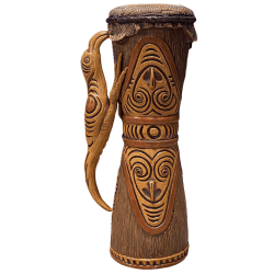 Front - Kundu (PNG Drum) - Ceramics by Carol - Bird Edition
