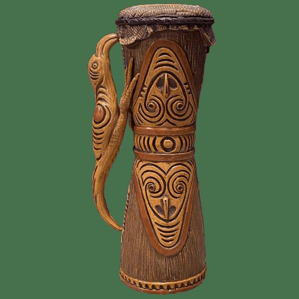 Front - Kundu (PNG Drum) - Ceramics by Carol - Bird Edition