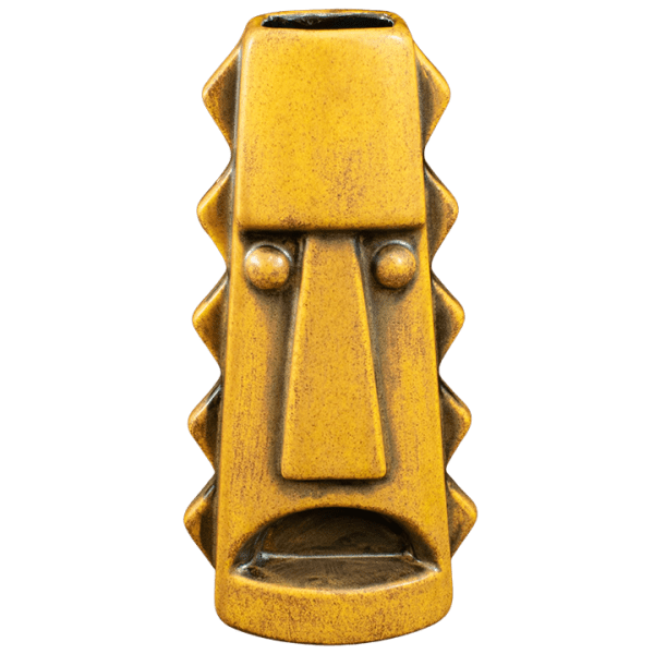 Front - Tall Spiky Mug - Terrible Tiki - Yellow Spice With Black Interior Edition