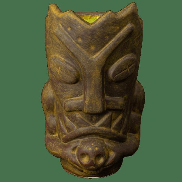 Front - Terrible Tiki Mug - Terrible Tiki - Rusted Iron With Green Interior Edition