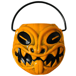 Front of Trick or Tiki Halloween Pumpkin Pail - The Black Lagoon Room - Limited Edition