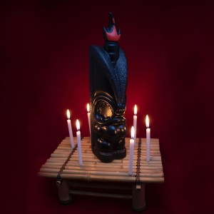 Power of Pele Decanter Black With Red Flame Topper