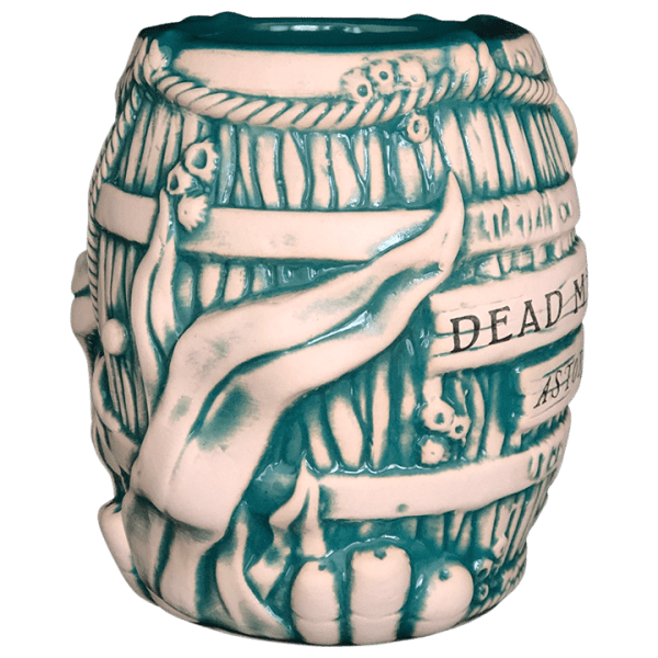 Side - Debris Barrel Mug - Dead Man's Isle - Teal Edition