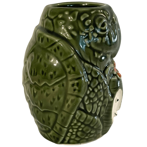 Side - Pau Hana Monu (Turtle) Mug - Tiki Farm - Green Edition