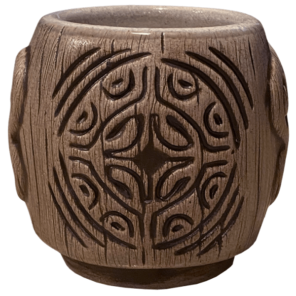 Back - Areiti Marquesan Head (Ohana Hui Tiki Stacker) - Beachbumz - Grey Edition