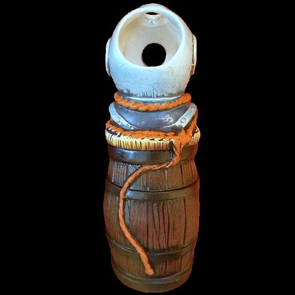 Back - Barrel Mug With Diving Helmet - Tiki-Ko - Orange Rope Edition