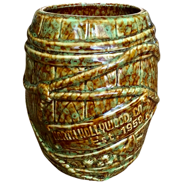Back - Big Rum Barrel - Tonga Hut North Hollywood - Brown and Green Speckled Edition