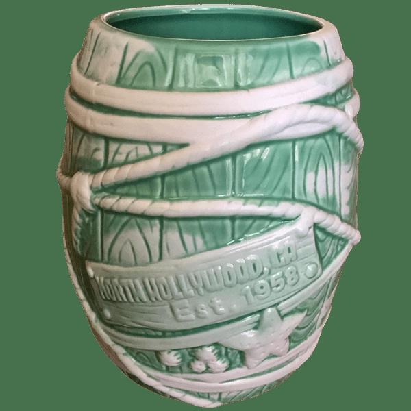 Back - Big Rum Barrel - Tonga Hut North Hollywood - Teal and White Edition