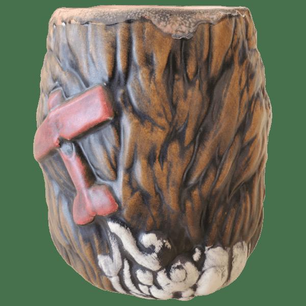 Back - King Kong Mug - Biggs Tiki - Brown With Crazed Eye Swirls Edition