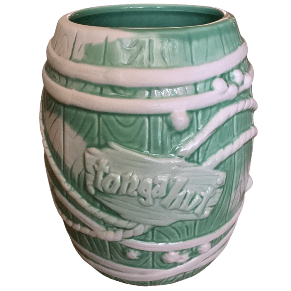 Front - Big Rum Barrel - Tonga Hut North Hollywood - Teal and White Edition