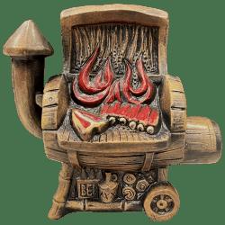 Front - Dr. BBQ Barrel Smoker Mug - Burnt Ends Tiki Bar - 1st Edition