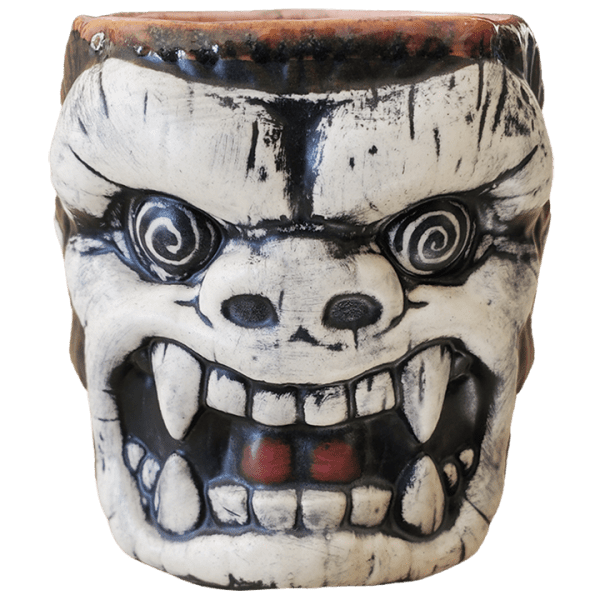 Front - King Kong Mug - Biggs Tiki - Brown With Crazed Eye Swirls Edition