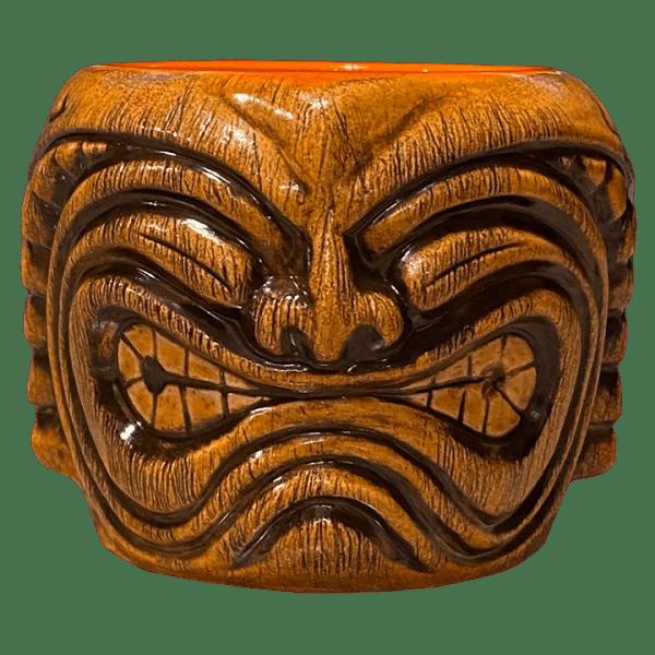 Front - Ku Head (Ohana Hui Tiki Stacker) - TikiRob - Brown Edition