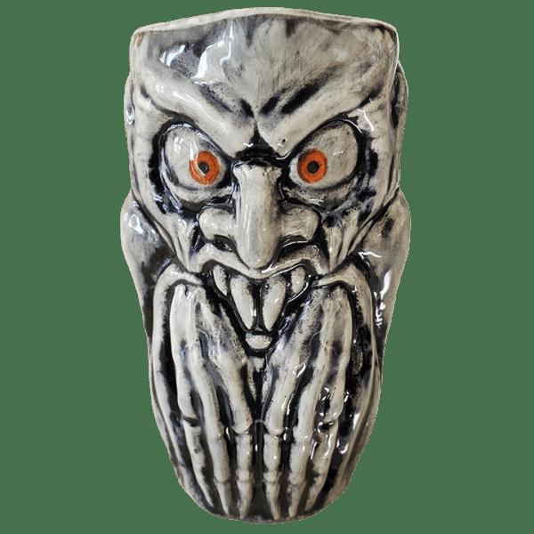 Front - Nosferatu Mug - Biggs Tiki - Grey With Orange Eyes Edition