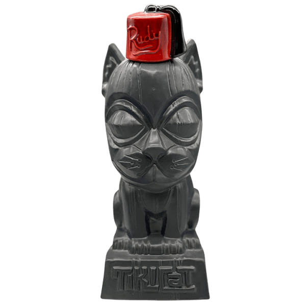 Front - Tiki Cat With Fez Decanter - TikiCat - Limited Edition