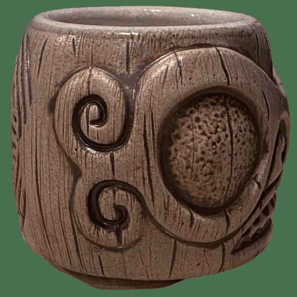 Side - Areiti Marquesan Head (Ohana Hui Tiki Stacker) - Beachbumz - Grey Edition