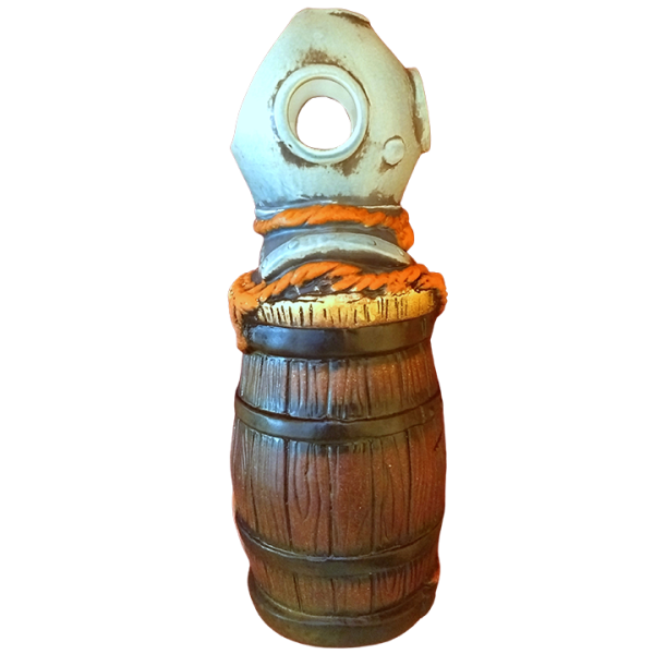 Side - Barrel Mug With Diving Helmet - Tiki-Ko - Orange Rope Edition