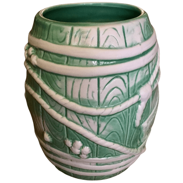 Side - Big Rum Barrel - Tonga Hut North Hollywood - Teal and White Edition