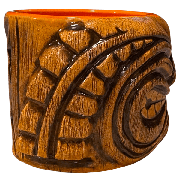 Side - Ku Head (Ohana Hui Tiki Stacker) - TikiRob - Brown Edition