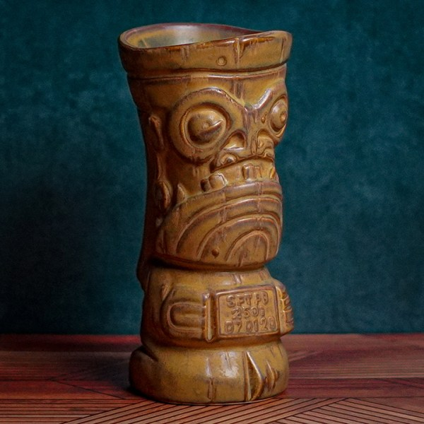 Angle of Mug Shot - The Search for Tiki - Traditional Brown Edition