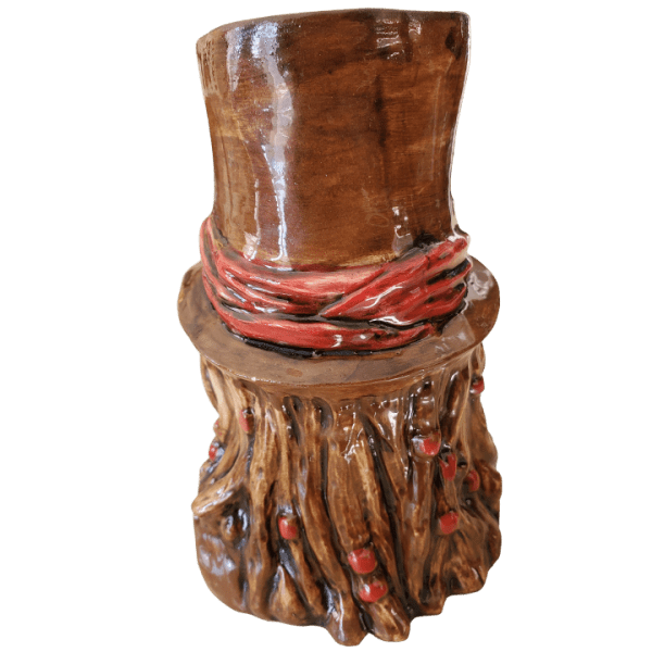 Back - Baron Samedi - Kin Pottery - Brown and Red Edition