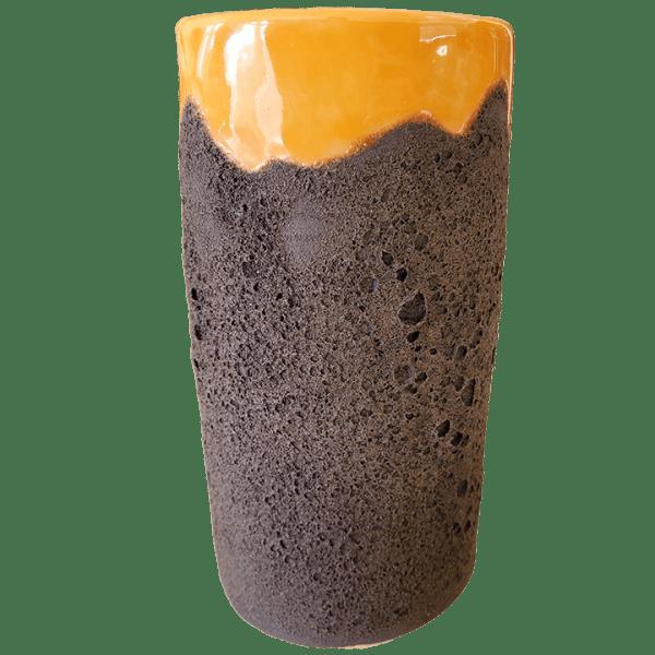 Back - Carved Moai Mug - TH Tiki - Lava and Orange Edition