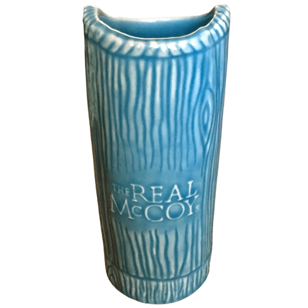 Back - Ku Tiki Mug - Real McCoy Rum - Light Blue Edition