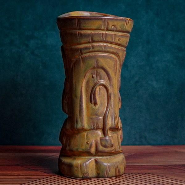 Back of Mug Shot - The Search for Tiki - Traditional Brown Edition