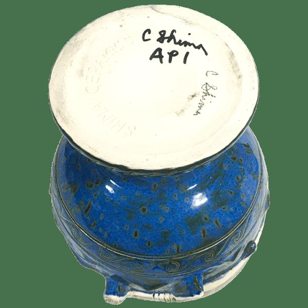 Bottom - Hammerhead Shark Bowl 2.0 - Shima Ceramics - Artist Proof #1 (Blue With Grey Sharks)