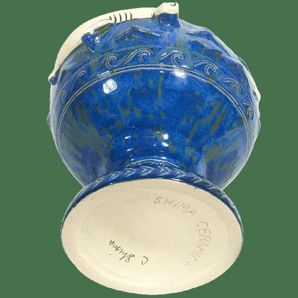 Bottom - Hammerhead Shark Bowl 2.0 - Shima Ceramics - Bondi Blue Edition