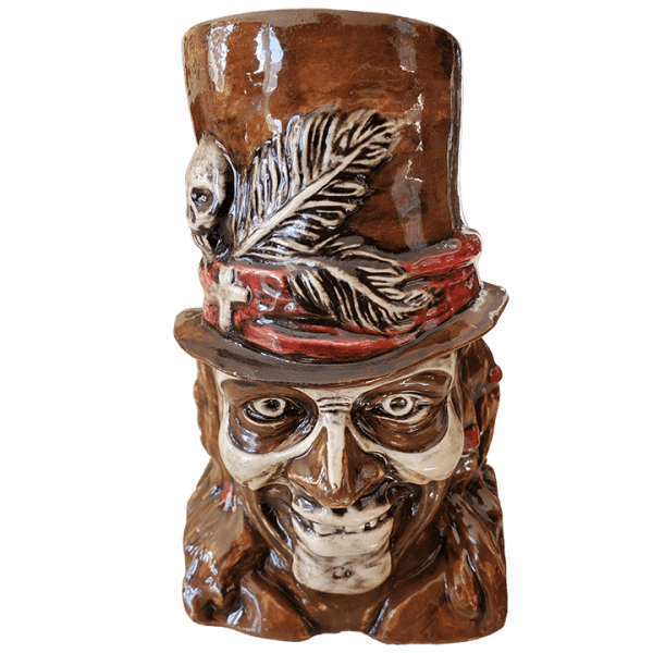 Front - Baron Samedi - Kin Pottery - Brown and Red Edition
