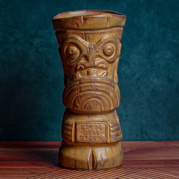 Front of Mug Shot - The Search for Tiki - Traditional Brown Edition