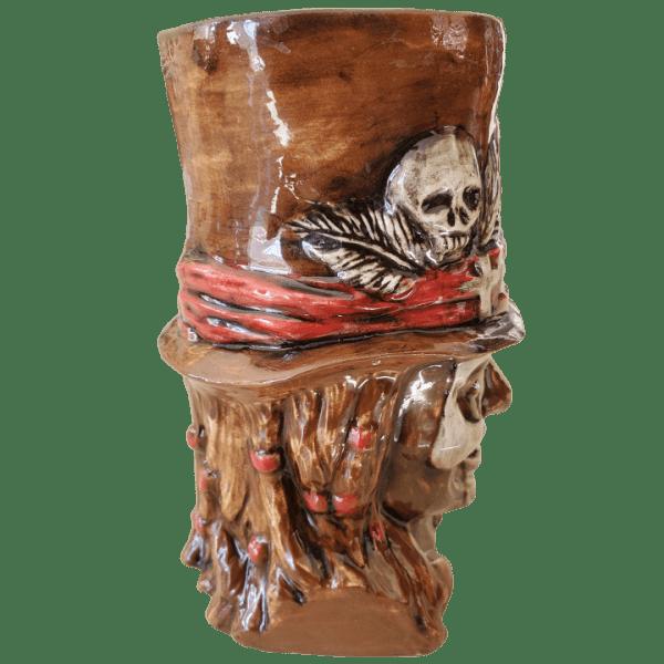 Side - Baron Samedi - Kin Pottery - Brown and Red Edition