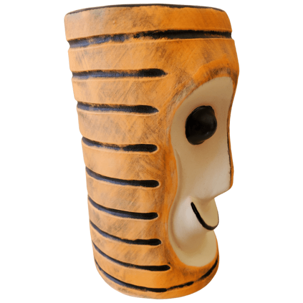 Side - Tiki Bob Mug - TH Tiki - Halloween Striped Edition