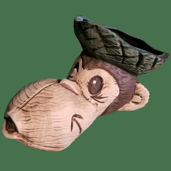 Angle - Beachcomber Monkey Mug - Tikiland Trading Co. - Limited Edition