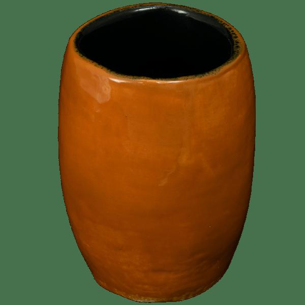 Back - Little Headhunter Tiki Shot Glass - Terrible Tiki - Brown With Black Interior Edition