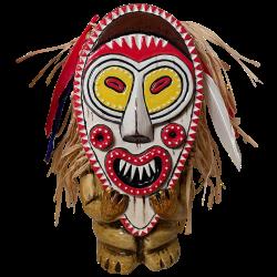 Front of PNG Mask Mug - TikiRob - Head Salesman Edition