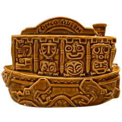 Side of Jungle Cruise Boat Mug (Congo Queen) - Trader Sam's Enchanted Tiki Bar - 1st Edition