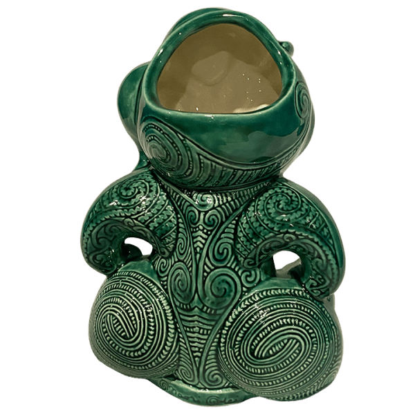 Back - Maori Hei Tiki Mug - Crazy Al - Open (Green Stone) Edition