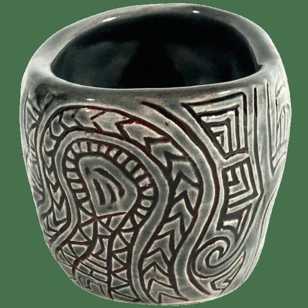 Back - Shrunken Skull Double Shot Glass - Shima Ceramics - Smoke and Blood Edition