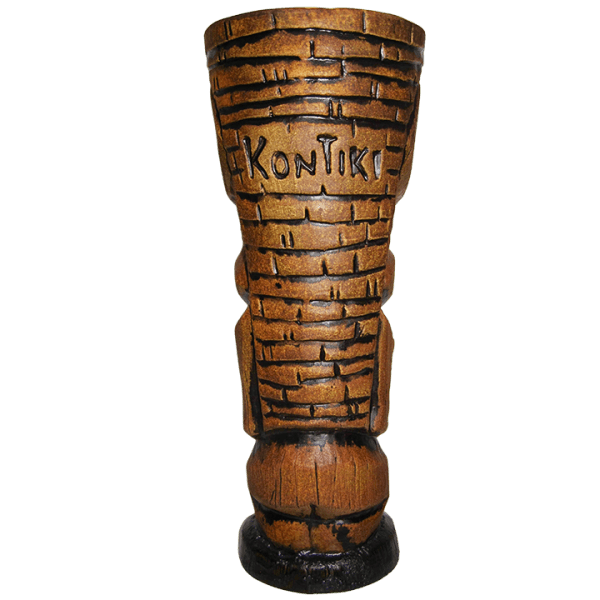 Back - Tiki Diablo's Marquesan Carving Mug - Kon-Tiki - Koa Brown Edition