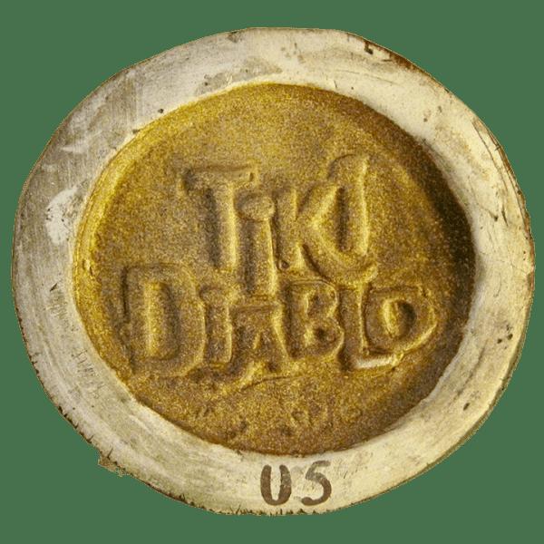Bottom - Tiki Diablo's Marquesan Carving Mug - Kon-Tiki - Koa Brown Edition